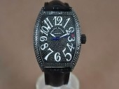 フランクミュラー 新作&送料込 Franck Muller Casablanca Men Diamond/PVD Black Eta 2824自動巻 J-FN0120