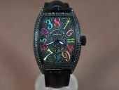 フランクミュラー 新作&送料込 Franck Muller Casablanca Men Diamond/pvd Auto自動巻J-FN0128