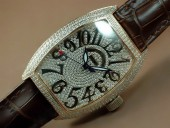 フランクミュラー 新作&送料込 Franck Muller Watches Casablanca Men Diamond/SS White 2813 自動巻 J-FN0090